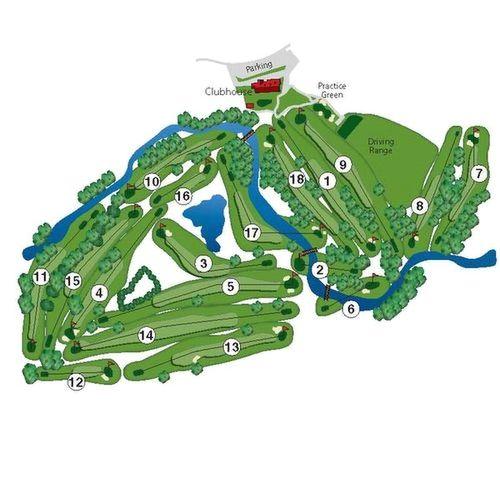 The Golf Course - Diamond Oaks Club Dallas Golf Courses Map on
